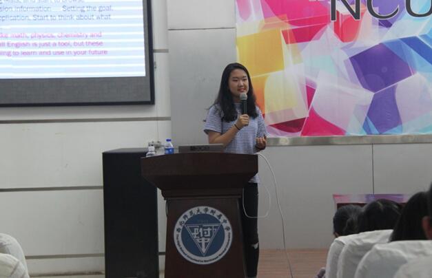 我校2012届国际班优秀毕业生李雅同学回母校做讲座