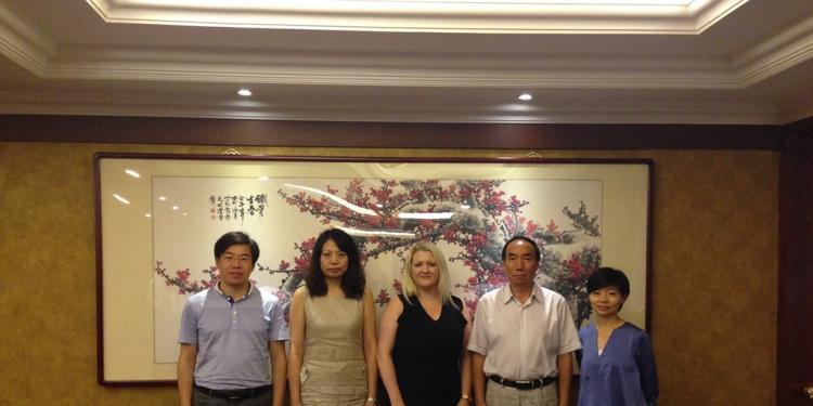 贾金元校长在北京会见英国布洛赫特公立中学代表
